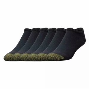 Other - Gold Toe Men's Black Cotton No Show Athletic Sock